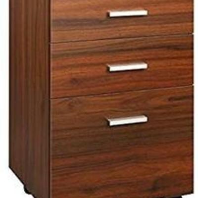 DEVAISE 3 Drawer Mobile File Cabinet, Wood