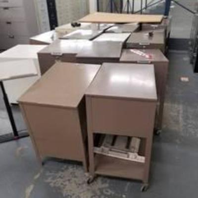 (4) Rolling File Cabinets