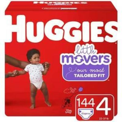 Huggies Little Movers Diapers - Size 4 (144ct)