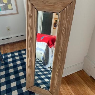 Rustic Wood Framed Mirror $125