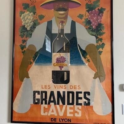 GRANDES CAVES Original Poster $1500
