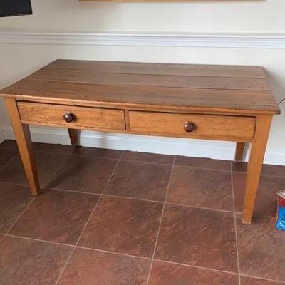 2-Drawer Pine Writing Desk $350