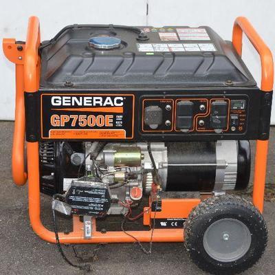 SOLD SOLD SOLD #1 Generac GP7500E Generator $400