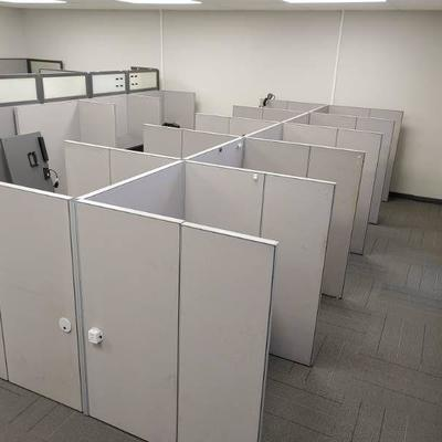 Large Lot of Office Cubicle Walls and Desks with Supporting Brackets Completely Disassembled; Builds Back Together Easily - LOCAL PICKUP...