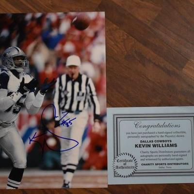 Autographed Tony Tolbert Dallas Cowboys Football Print with COA - WILL SHIP