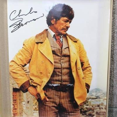 Autographed 8x10 Movie Star Celebrity Photo -Charles Bronson -WILL SHIP