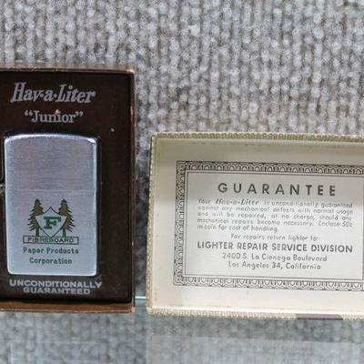 Hav-a-Liter Junior Vintage Windproof Lighter with Original Box - WILL SHIP