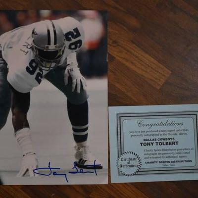 Autographed Kevin Williams Dallas Cowboys Football Print with COA - WILL SHIP