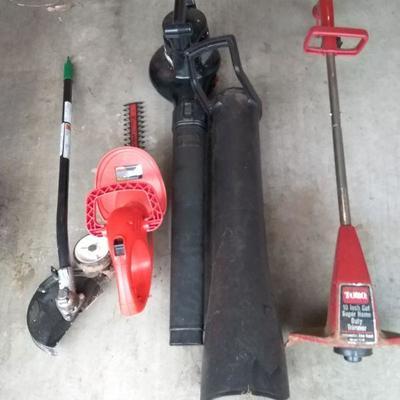 Assortment of Garden Power Tools