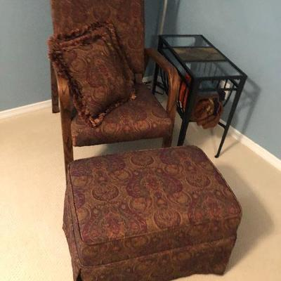 Chair with ottoman 35.00