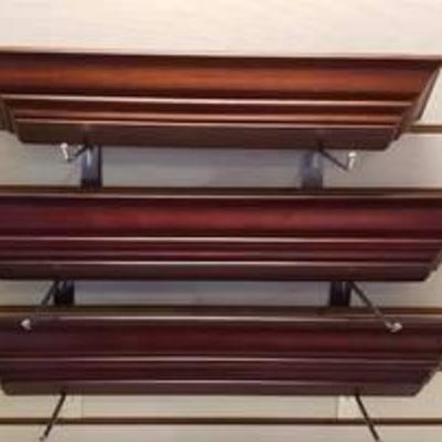 3 Wood Floating Wall Shelves