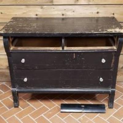 #Antique Dresser Painted Black ~ No top drawers ~ one drawer face ~ 42 in. x 20 in. x 33 in.