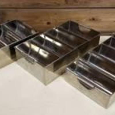 3 Stainless Steel Commercial Kitchen Flatware Sorting Caddies.jpg