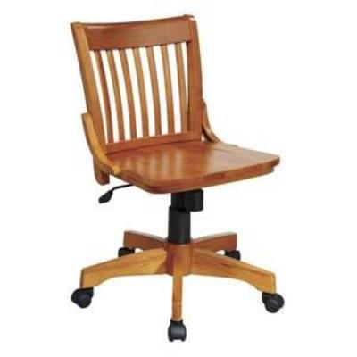 Armless Wood Banker's Chair Fruitwood - OSP Home Furnishings