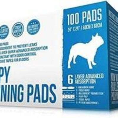 Bulldogology Premium Puppy Pee Pads With Adhesive Sticky Tape - Dog Training ...