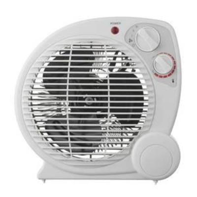 1500-Watt Electric Fan Forced Portable Heater, White