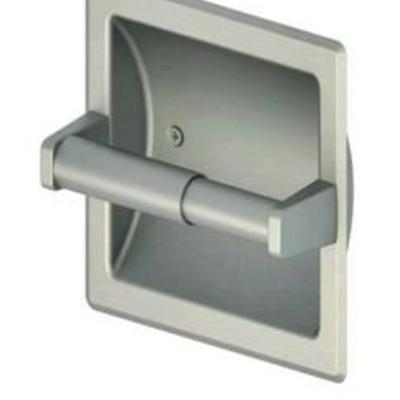= Project Source Recessed Brushed Nickel Toilet Paper Holder Seton 0379304