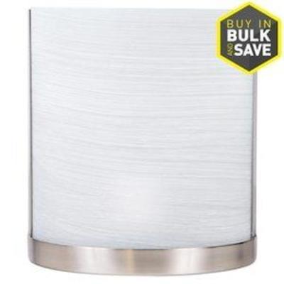 allen + roth Merington 6.5-in W 1-Light Brushed Nickel Pocket Wall Sconce