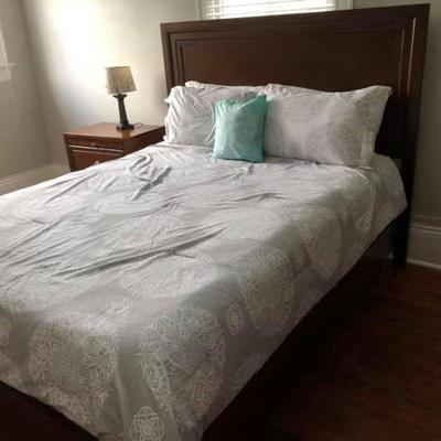 PA001 Bed Frame $125, Mattress $100, nightstand $50, Comforter $20, Lamp $5 . We will not hold unless Paid for Venmo @Rafael-Monzon-1...
