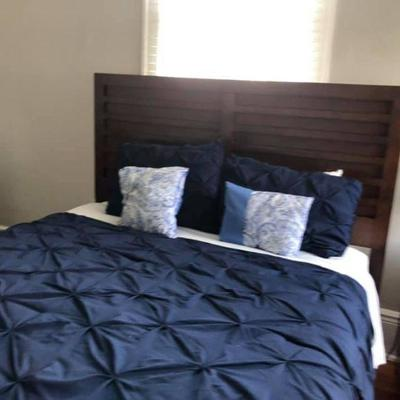 PA014 Bed Frame $125, Mattress $100, Comforter Sold, Nightstand $55, Lamp $10 . We will not hold unless Paid for Venmo @Rafael-Monzon-1...