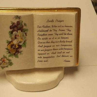 BR4162007 VINTAGE CERAMIC PEN  HOLDER WITH LORD'S PRAYER ON FRONT $10.00 BOX 75 Pay online by Venmo: @Rafael-Monzon-1, PayPal Email:...