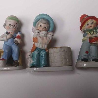 BR4162005 SET OF THREE VINTAGE FIGURINE CERAMIC CANDLE HOLDERS  BY JASCO         $10.00 BOX 75 Pay online by Venmo: @Rafael-Monzon-1,...