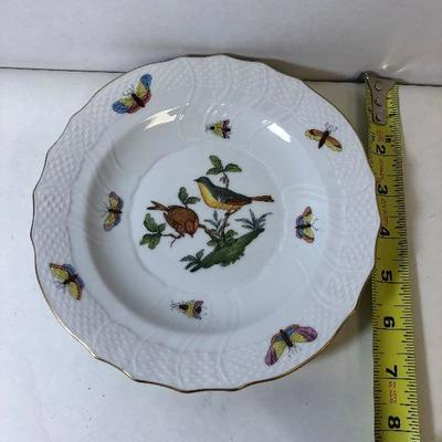 https://www.ebay.com/itm/124169363793	LAN9811: Herend Hungary Hand Painted Plate 2 Birds 1518 Ro 16 24	Auction