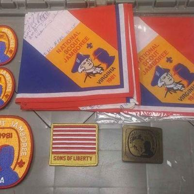 https://www.ebay.com/itm/114200222326	AB0279 VINTAGE LOT OF 7 BOY SCOUTS OF AMERICA ITEMS VIRGINIA NATIONAL SCOUT JAMBORE 1981 BELT...