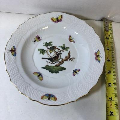 https://www.ebay.com/itm/124169366044	LAN9812: Herend Hungary Hand Painted Plate 2 Birds 1518 Ro 16  	Auction