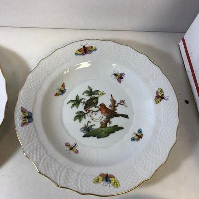 https://www.ebay.com/itm/114204622630	LAN9813: Herend Hungary Hand Painted Plate 2 Birds 1518 Ro 16  	Auction