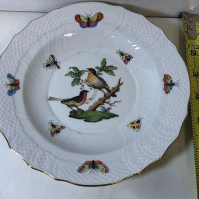 https://www.ebay.com/itm/124169193598	LAN9809: Herend Hungary Hand Painted Plate 2 Birds 1518 Ro 16 24	Auction