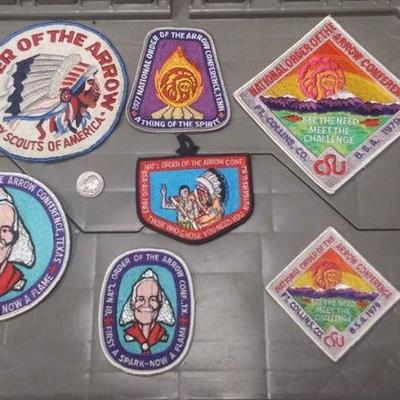 https://www.ebay.com/itm/124166168141	AB0280 VINTAGE LOT OF 7 BOY SCOUTS OF AMERICA PATCHES. $40.00 ORDER OF THE ARROW   BOX 70 AB0280