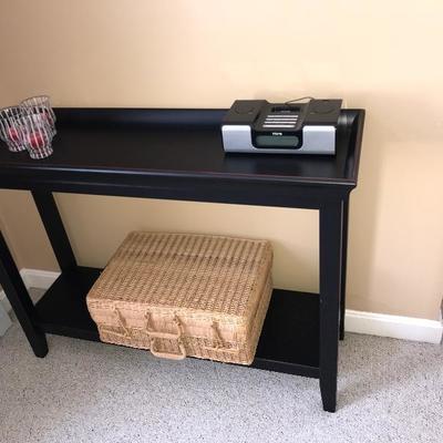 SOLD Crate and Barrel Rustic Black Hallway/Sofa Table $185