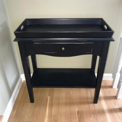 Crate and Barrel Rustic Tray  (removable Tray) Table w/Drawer  $165