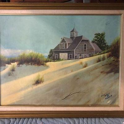 https://www.ebay.com/itm/114216953786LAN0772: The Dune's Flotwik Oil on Board Framed Local Pickup  $125