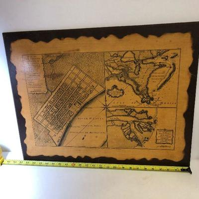https://www.ebay.com/itm/124172838077LAN9823: Old Map of New Orleans On BoardAuction