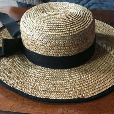 https://www.ebay.com/itm/114208569723KB0135: Vintage Yvonne La Fleur New Orleans Straw Hat with Ribbon $65