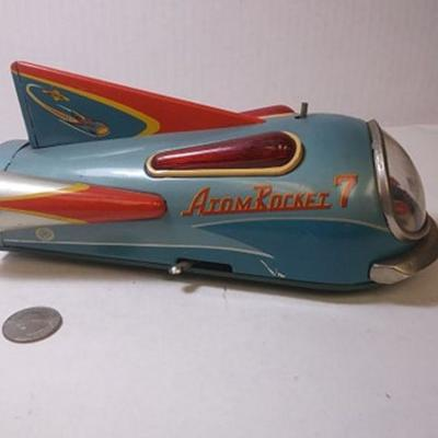 https://www.ebay.com/itm/124181822907BU3042 VINTAGE TOY1960ATOMIC ROCKET 7 CAR BATTERY OPERATED (not tested) MADE IN JAPAN BY NOMURA...