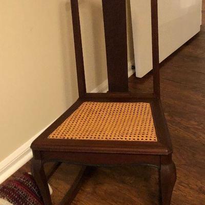 https://www.ebay.com/itm/124190301492BU1102: Child's Antique Wooden Rocking Chair Local Pickup $80