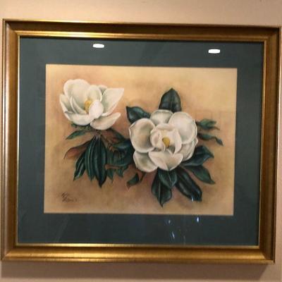 https://www.ebay.com/itm/124190147230BU1071: Evelyn LaFleur 1961 Magnolia Still Life Original Watercolor Framed Local Pickup $175