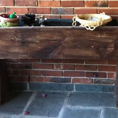 https://www.ebay.com/itm/124190282096BU1098 Antique XL Potato / Bread Dough Ben / Trough Planter Stand $145