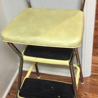 https://www.ebay.com/itm/124189474536BU1045: Mid Century Yellow Vinyl Setup Stool Chair Local Pickup $35