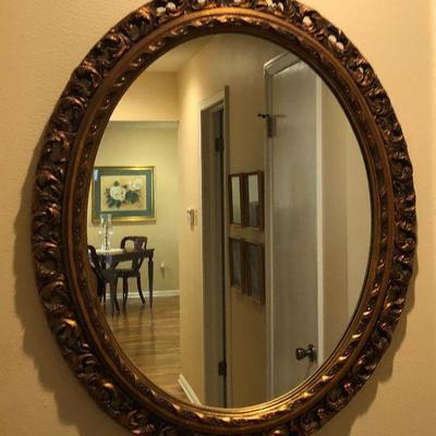 https://www.ebay.com/itm/114226793161BU1052: Ovel Gold Gilt Mirror Antique Local Pickup $50