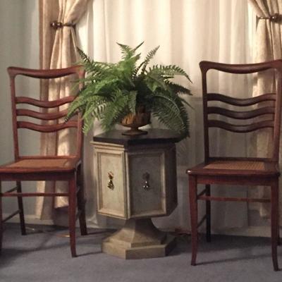 https://www.ebay.com/itm/124190119473BU1051: Antique Cain Bottom Chairs (2) Local Pickup $150