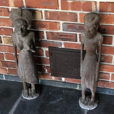 https://www.ebay.com/itm/124190278849BU1097 Mr and Mrs African Couple Carved Wooden Statues Local Pickup $20
