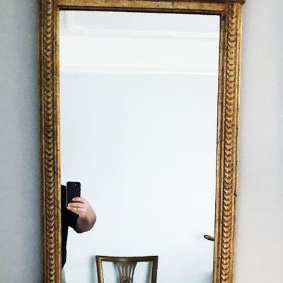 https://www.ebay.com/itm/114226113795BU1025 #1  Greek Key Large Gold Gilt Antique Mirror Local Pickup $60
