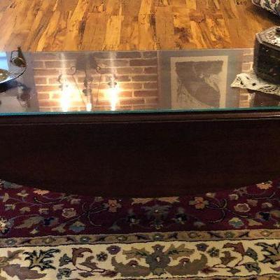 https://www.ebay.com/itm/114226210454BU1043: Long Wood Drop Leaf Coffee Table Local Pickup $95