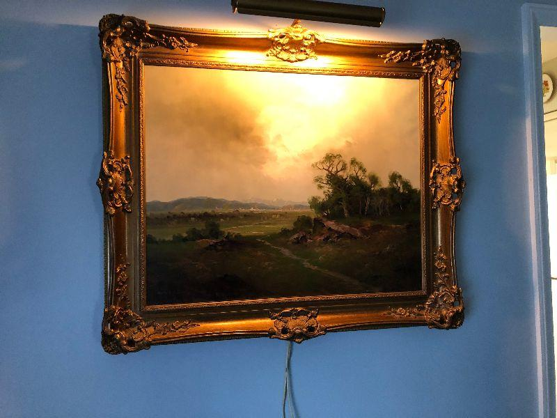 BU1028: Ernst Jugel Germany B 1913 Oil on Canvas Signed Landscape 3rd Party Shipping Auction