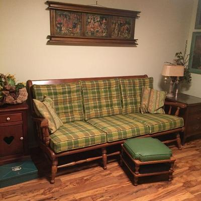 https://www.ebay.com/itm/114226847939BU1080: Country Style Fabric and Maple Wood Sofa Local Pickup $125