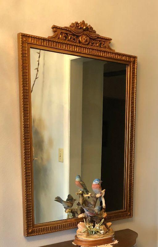 https://www.ebay.com/itm/114225920437BU1017: Antique Gold Guild Hall Mirror Local Pickup $40